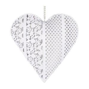 Dekoratívne srdiečko z kovu, biele