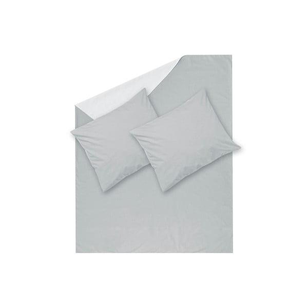 Sivé obliečky Hawke&Thorn Parker Simple, 240 x 220 cm + 2 x vankúš 50 x 60 cm