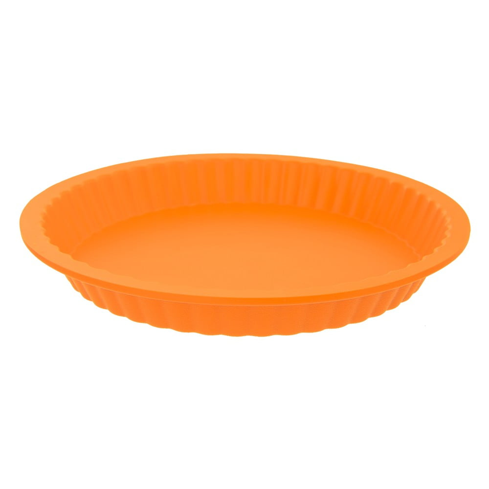 Oranžová silikónová forma na koláč Orion Baker, ø 27 cm