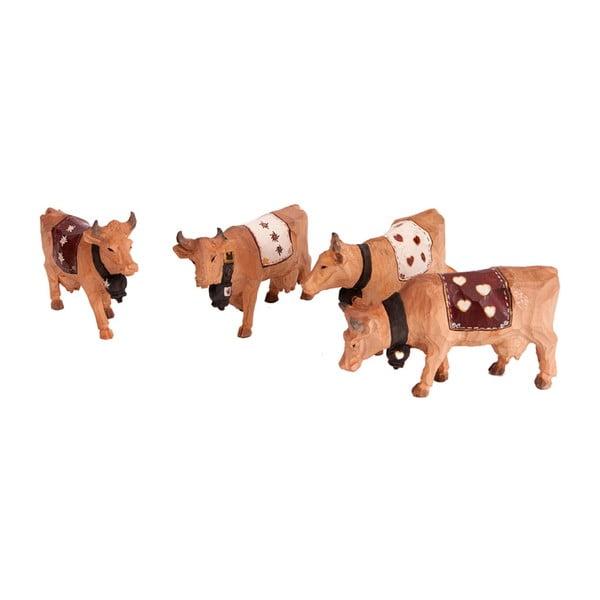 Sada 4 figúrok Cow
