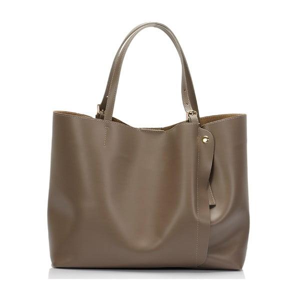 Béžová kožená kabelka Lisa Minardi Eunice