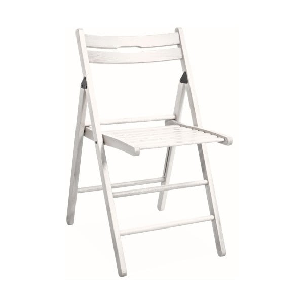Skladacia stolička Smart, biela