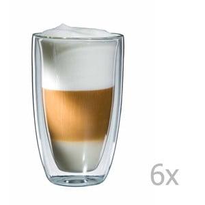 Sada 6 sklenených hrnčekov na latte macchiato bloomix