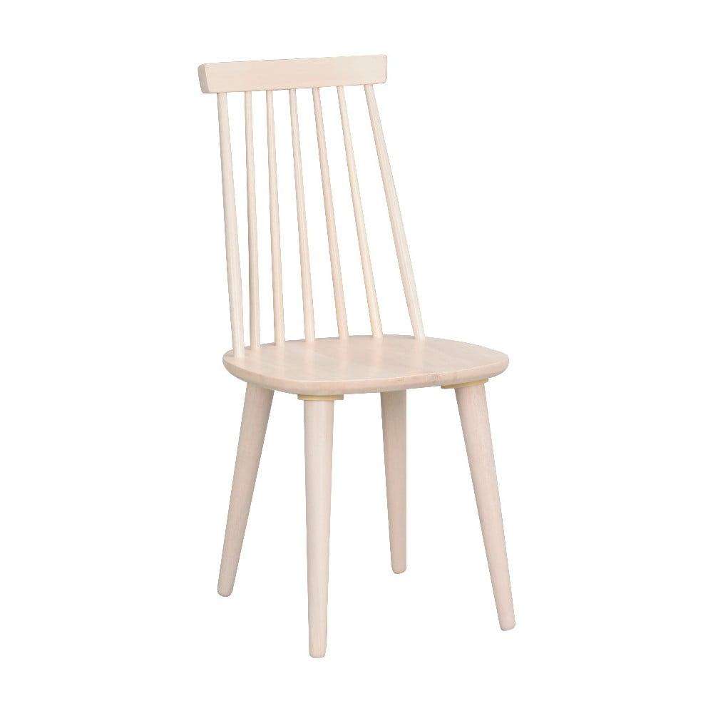 Béžová jedálenská stolička z dreva kaučukovníka Folke Lotta