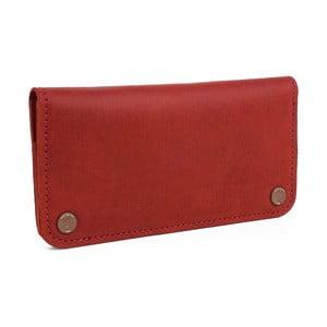 Červená kožená peňaženka Woox Triviala Purpurea