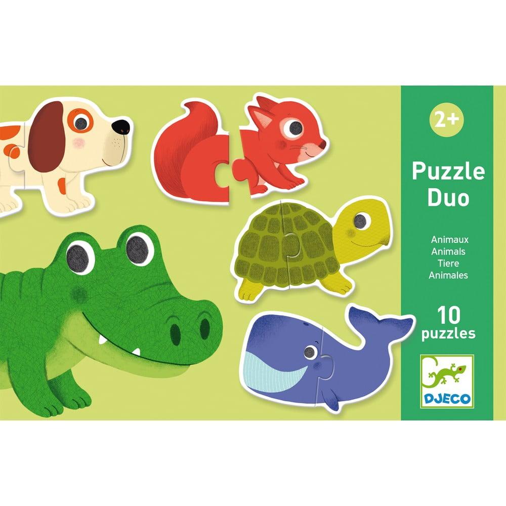 Detské puzzle Djeco Duo Zvieratká