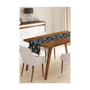 Behúň na stôl z mikrovlákna Minimalist Cushion Covers Black Cactus, 45×145 cm