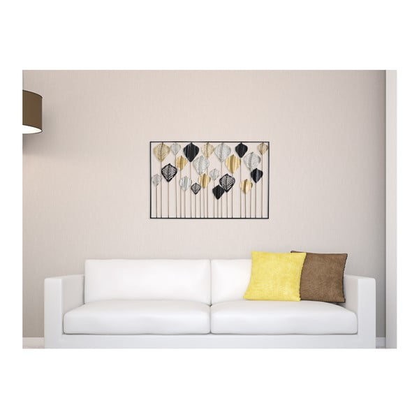 Železná nástenná dekorácia Mauro Ferretti Lex, 120×78,5 cm