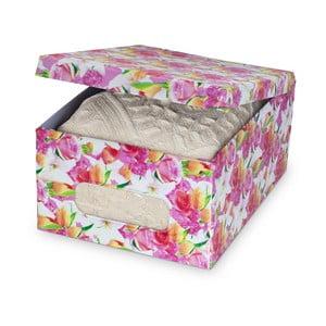 Úložný box Domopak Roses, dĺžka 50 cm