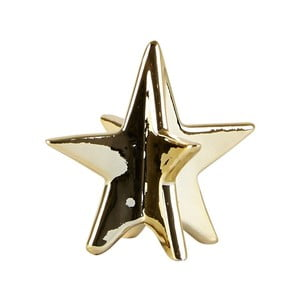 Dekoratívna hviezda KJ Collection Ceramic Gold, 8 cm