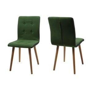 Sada 2 jedálenských stoličiek Frida, zelená