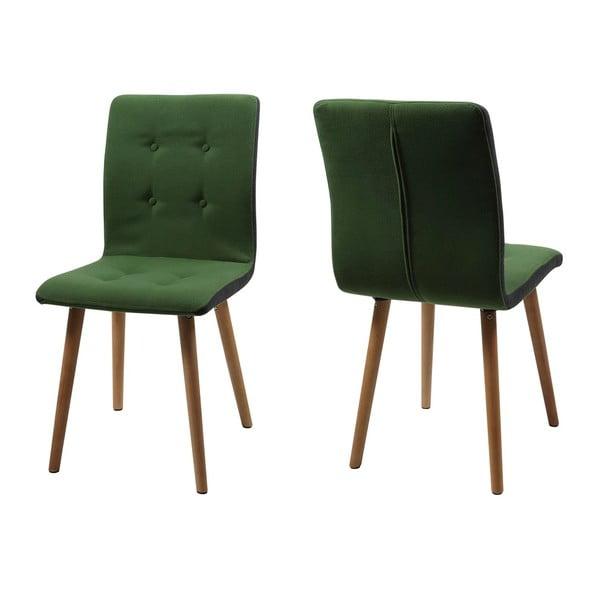 Sada 2 zelených jedálenských stoličiek Actona Frida