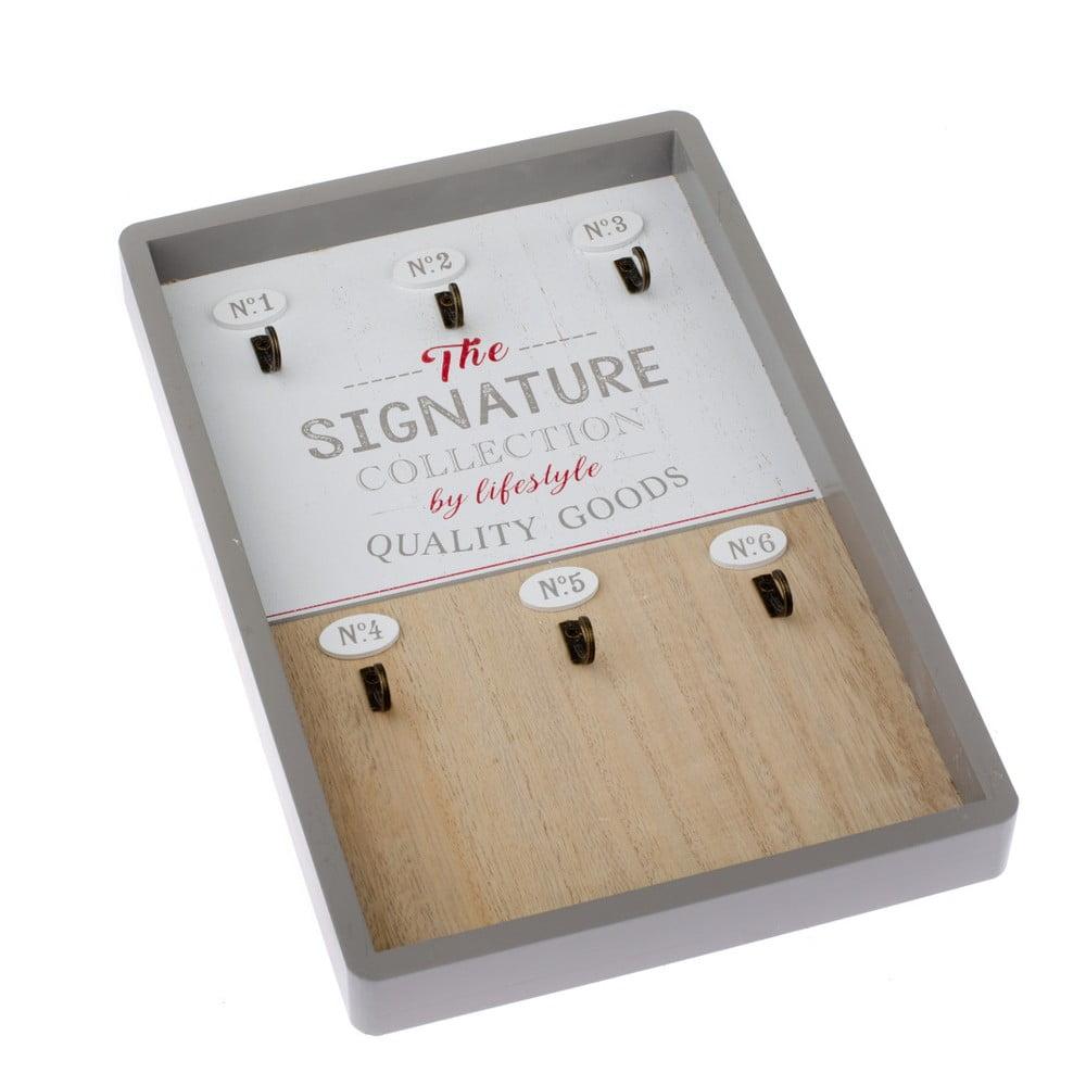 Nástenný drevený vešiak na kľúče Dakls Signature