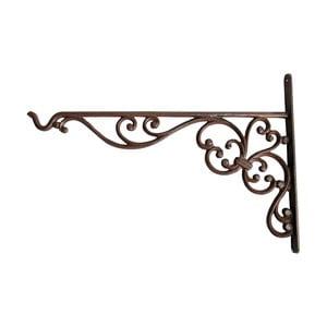 Nástenná konzola sa so závesom na kvetináč / krmítko Esschert Design volutami, výška 24,7 cm