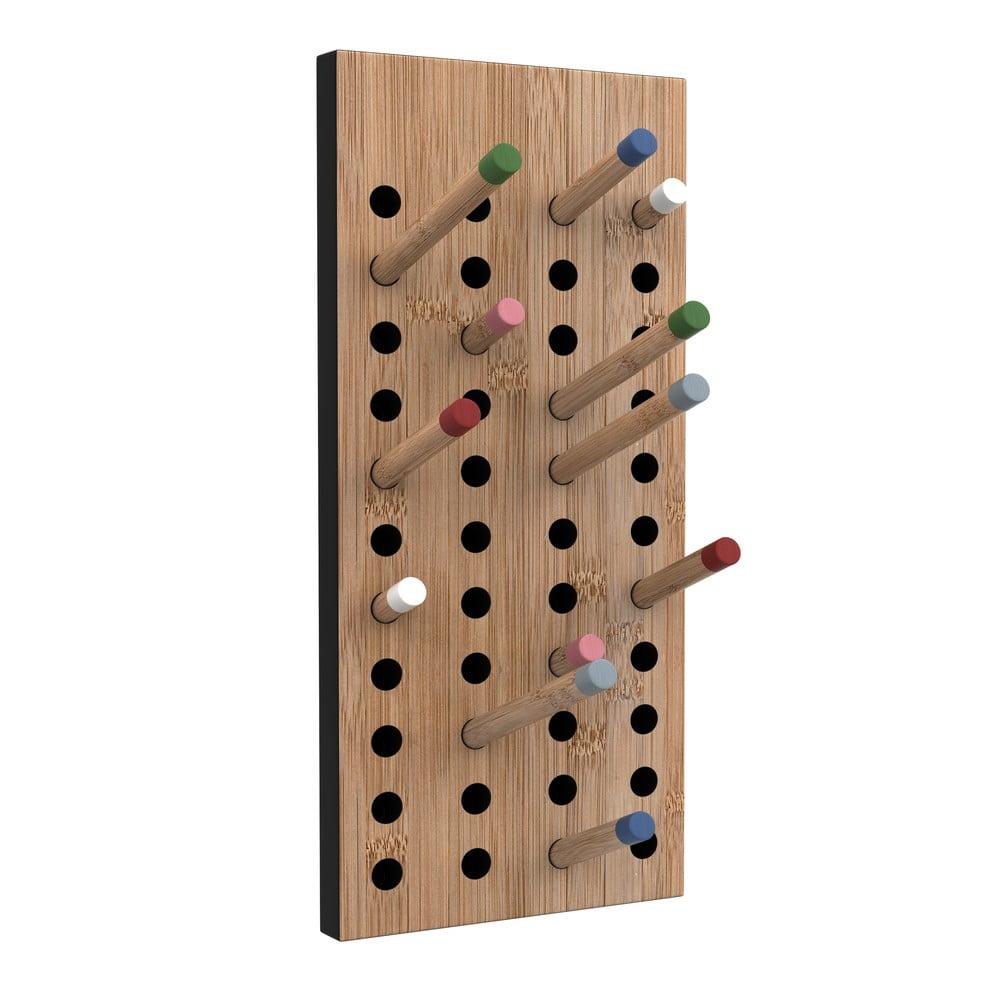 Nástenný variabilný vešiak z bambusu Moso We Do Wood Scoreboard, výška 36 cm