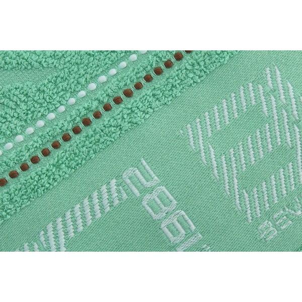 Mentolový bavlnený uterák BHPC, 50x100cm