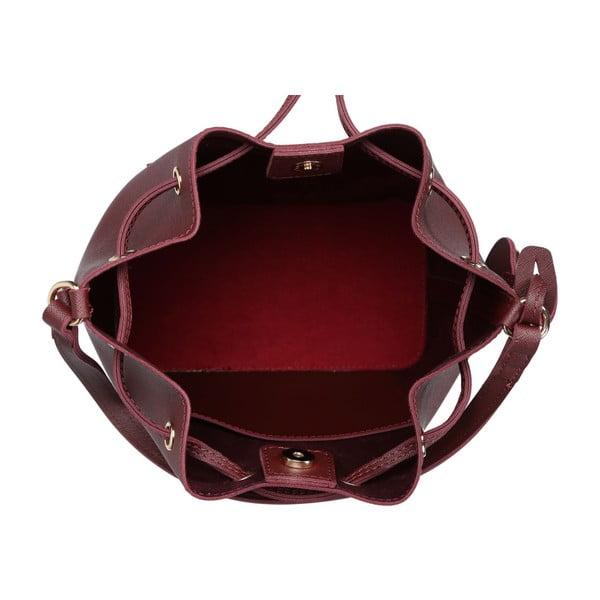 Tmavočervená kabelka z eko kože Beverly Hills Polo Club Sophia