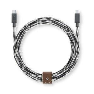 Nabíjací kábel USB C Native Union Belt Cable Zebra, dĺžka 2,4 m