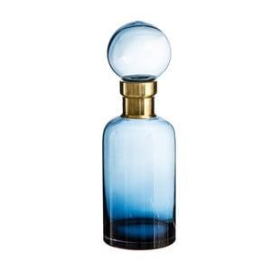 Modrá dekoratívna fľaša Denzzo Saulo, výška 34 cm