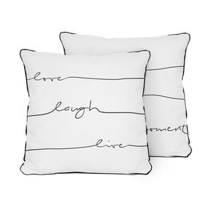 Vankúš Pillow Live Laugh Love, 45x45 cm