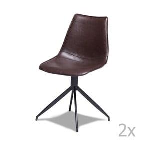 Sada 2 tmavohnedých stoličiek Knuds Isabel