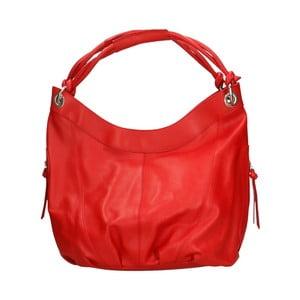Červená kožená kabelka Roberto Buono Saranka
