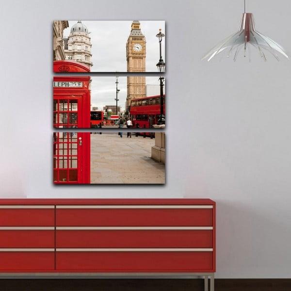 3-dielny obraz London calling