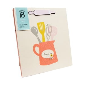 Kniha receptov Busy B Recipe Floral A4