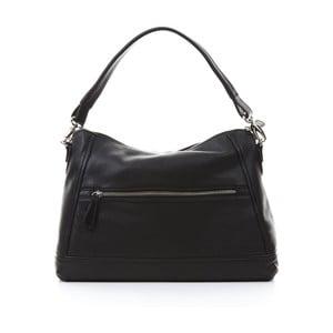 Čierna kožená kabelka Gianni Conti Justina