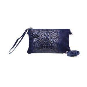Kožená listová kabelka Marie, modrá