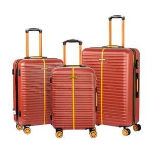 Sada 3 hnedých kufrov Travel World Amazonia