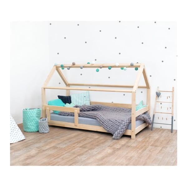 Prírodná detská posteľ s bočnicami zo smrekového dreva Benlemi Tery, 80×190 cm