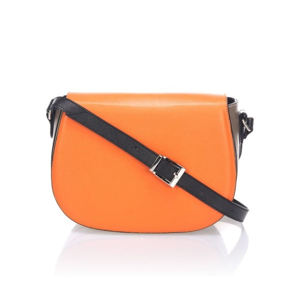 Kožená kabelka Krole Karina, oranžová