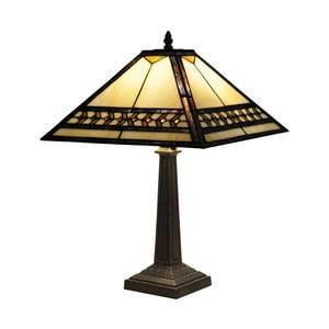 Tiffany stolná lampa Yellow Line