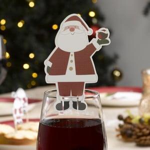Sada 10 ozdôb na pohár Neviti Let It Snow Father Christmas