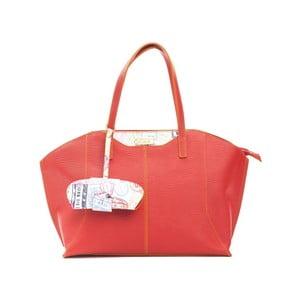 Červená kožená kabelka Alviero Martini Guna