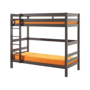 Sivá detská poschodová posteľ Vipack Pino, výška 180 cm