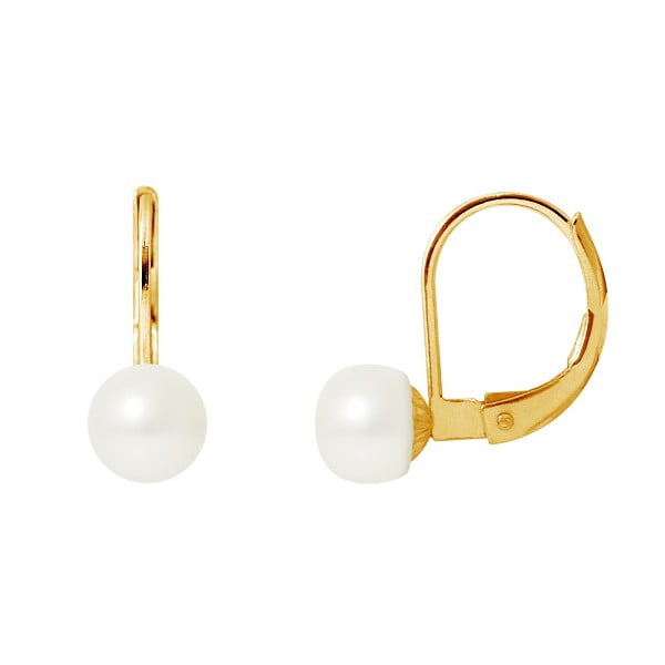 Náušnice s riečnou perlou Afrodisios