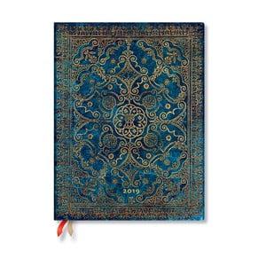 Diár na rok 2019 Paperblanks Azure, 18 x 23 cm