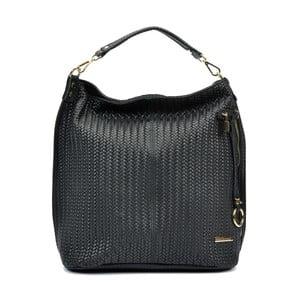 Čierna kožená kabelka Renata Corsi Hanterro