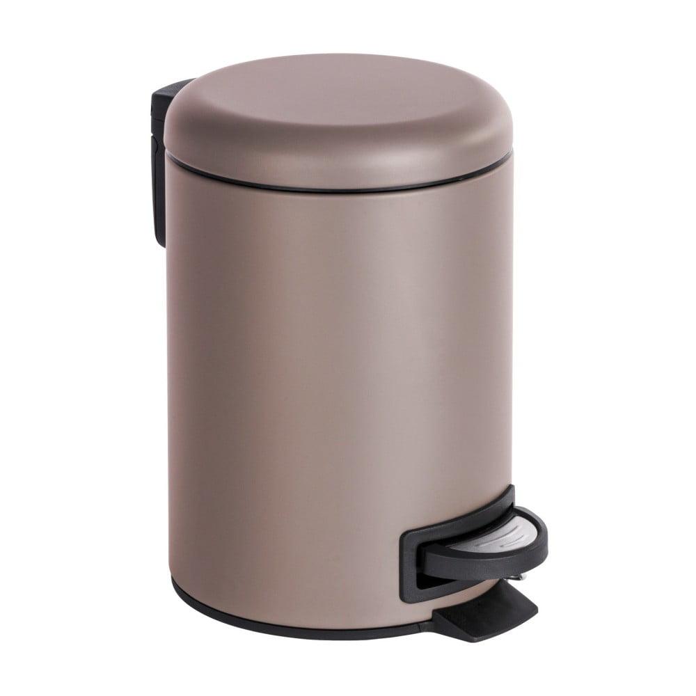 Hnedobéžový pedálový odpadkový kôš Wenko Leman, 3 l