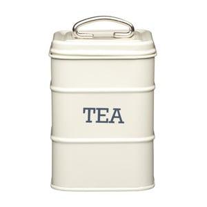 Plechová dóza Kitchen Craft Tea, krémová