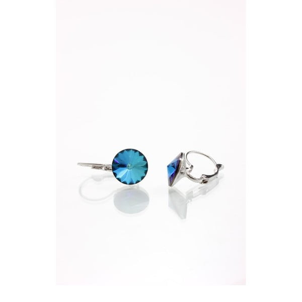 Modré náušnice so Swarovski krištáľmi Yasmine Longie