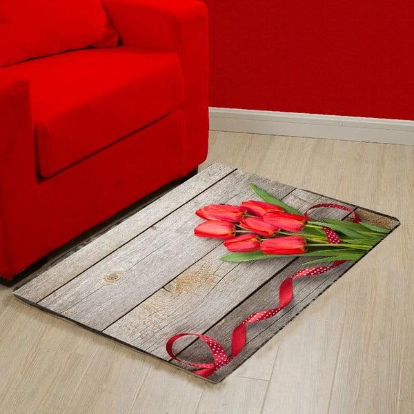 Vinylový koberec Tulips,52x75cm