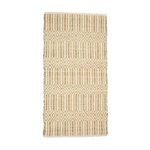 Béžový koberec z morskej trávy a bavlny Simla, 170 × 130 cm