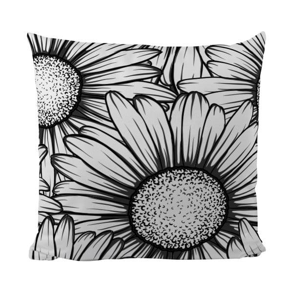 Vankúšik Black Shake Sun Flower, 50x50 cm