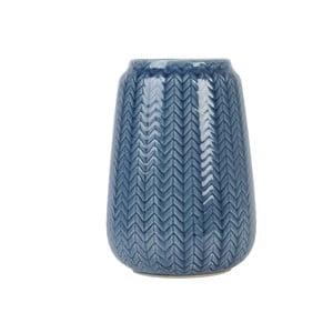 Stredná modrá váza Present Time Knitted