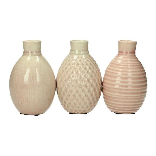 Set 3 stojanov na sviečku Stoneware Pink