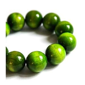 Zelený drevený náramok ko–ra–leBubbles