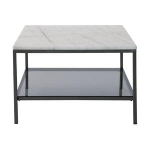 Mramorový konferenčný stolík so sivou konštrukciou RGE Ascot, 75 x 75 cm
